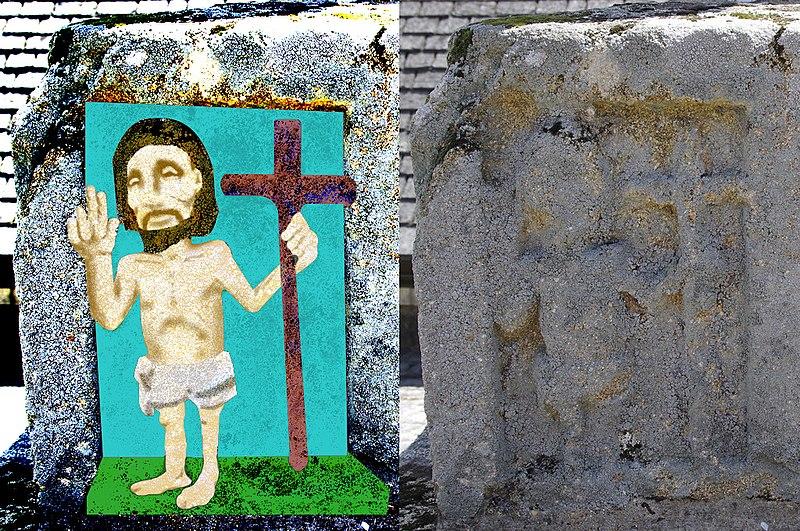 Photo du Monument Historique Croix du 16e siècle situé à Caudan