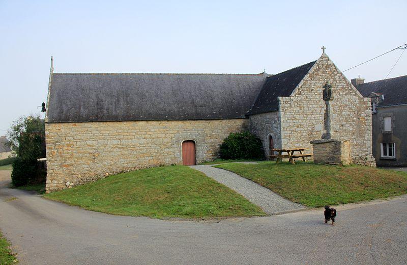 Photo du Monument Historique Chapelle et calvaire de Locmaria situé à Chapelle-Neuve (La)