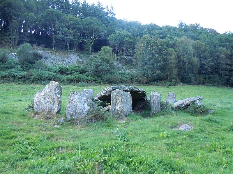 Photo du Monument Historique Allée couverte, dite Minguionnet situé à Gourin