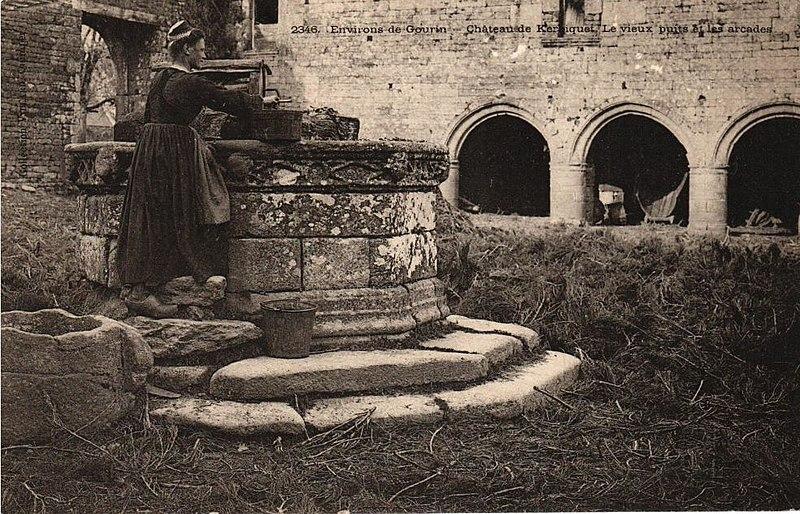 Photo du Monument Historique Manoir de Kerbiguet situé à Gourin