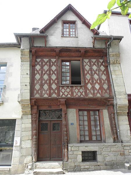 Photo du Monument Historique Maison datée de 1538 situé à Josselin