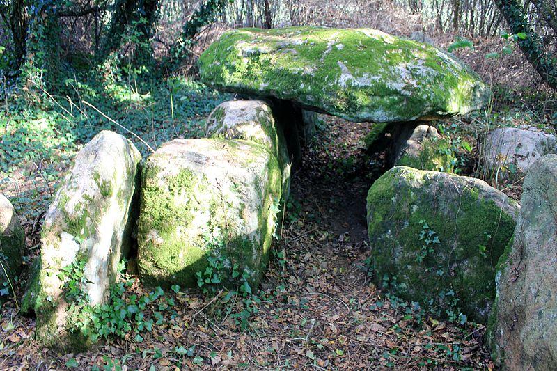 Photo du Monument Historique Dolmen à cabinets latéraux de Locqueltas situé à Locoal-Mendon