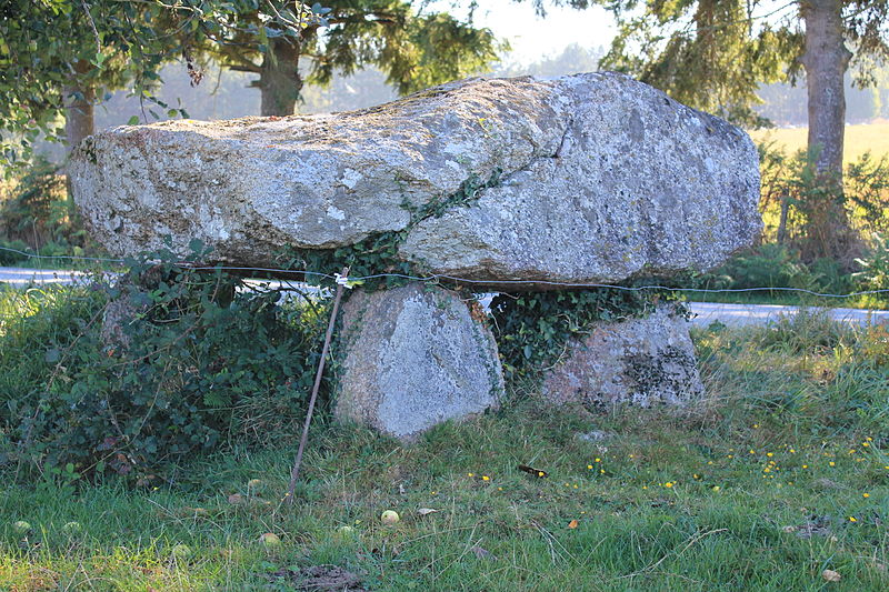 Photo du Monument Historique Dolmen dit de Kermorvant situé à Moustoir-Ac