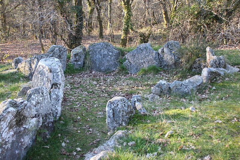 Photo du Monument Historique Dolmen à galerie avec la base du tumulus situé à Ploemel