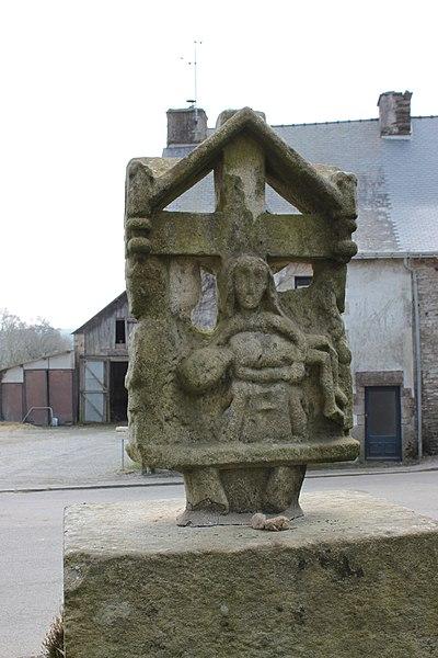 Photo du Monument Historique Croix Merhan situé à Plumelec