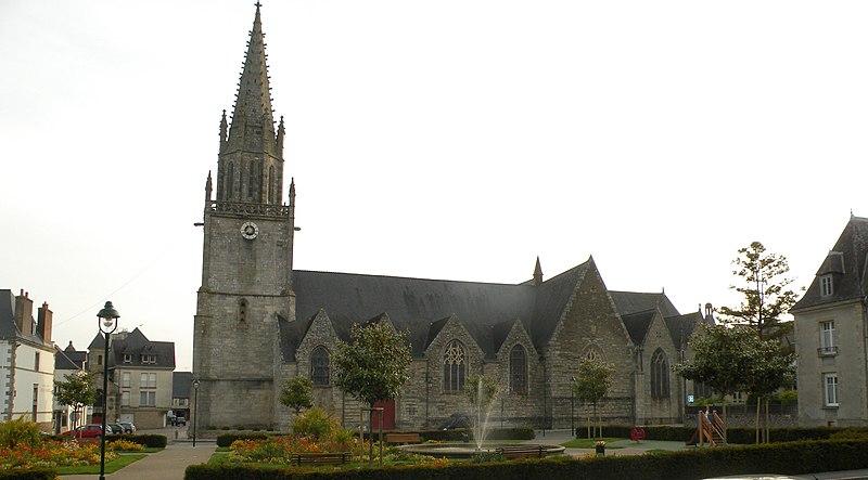 Photo du Monument Historique Eglise Notre-Dame-de-la-Joie situé à Pontivy