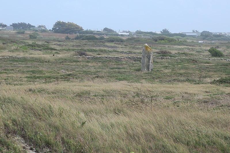 Photo du Monument Historique Menhir de la pointe d'Er-Limouzen situé à Quiberon