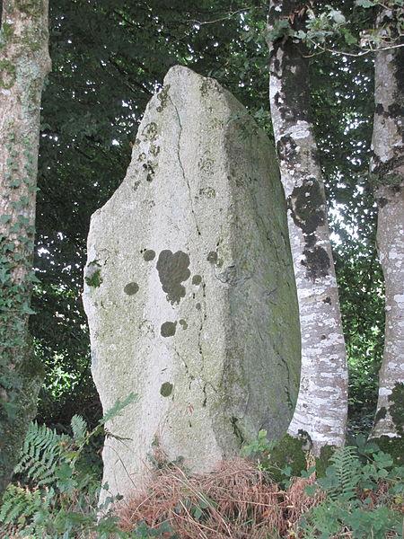 Photo du Monument Historique Menhir de Guernangoué situé à Roudouallec