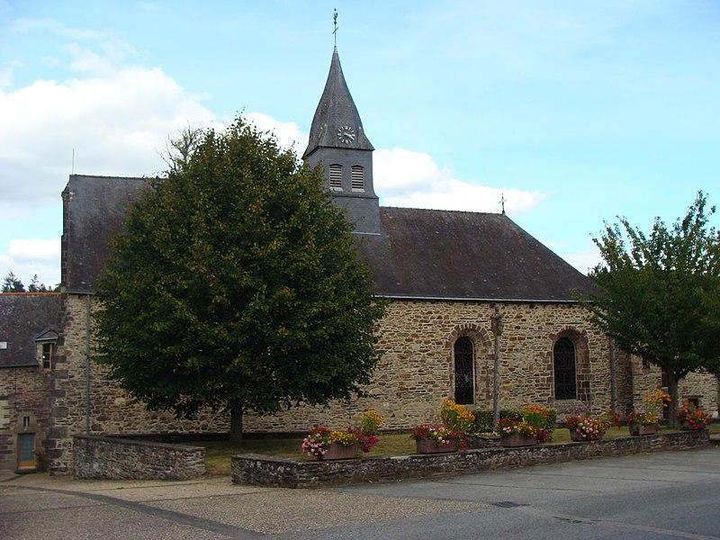 Photo du Monument Historique Eglise Saint-Malo situé à Saint-Malo-de-Beignon