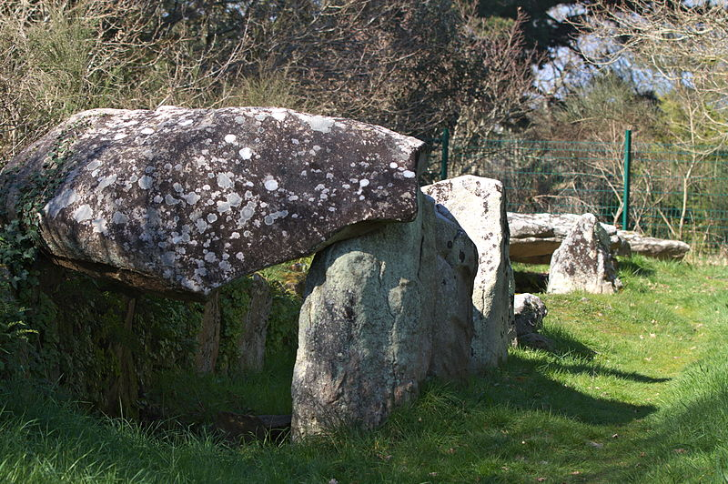 Photo du Monument Historique Allée couverte dite Er-Roh situé à Trinité-sur-Mer (La)