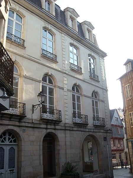 Photo du Monument Historique Hôtel Saint-Georges situé à Vannes