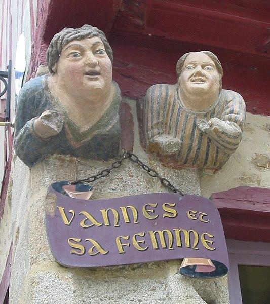 Photo du Monument Historique Maison dite de Vannes et sa femme situé à Vannes