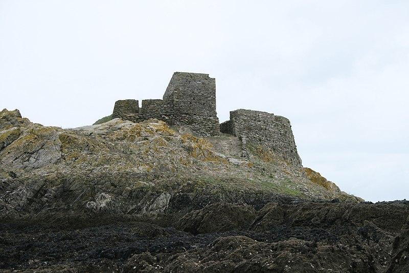 Photo du Monument Historique Fort du Gros Rocher situé à Palais (Le)