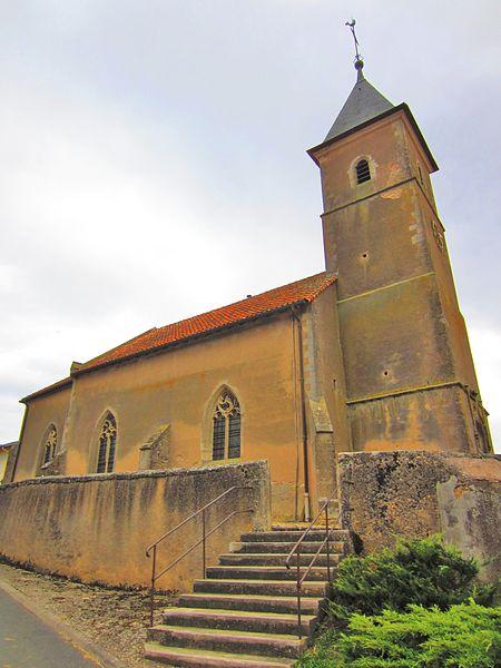 Photo du Monument Historique Eglise Saint-Pierre situé à Baudrecourt