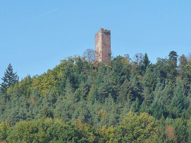 Photo du Monument Historique Château de Waldeck (ruines) situé à Eguelshardt