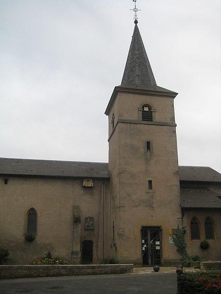 Photo du Monument Historique Eglise Saint-Hubert situé à Gandrange