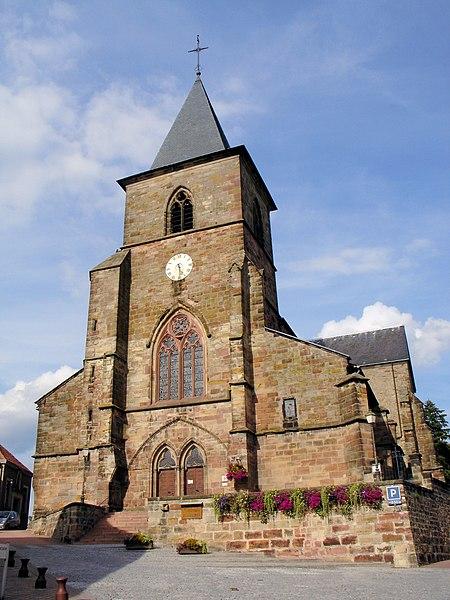 Photo du Monument Historique Eglise collégiale Saint-Etienne situé à Hombourg-Haut