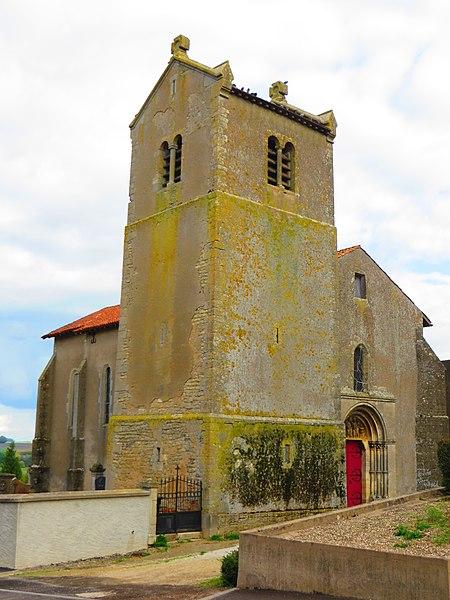 Photo du Monument Historique Eglise situé à Lemoncourt