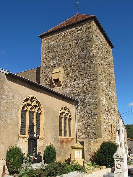 Photo du Monument Historique Eglise situé à Lessy