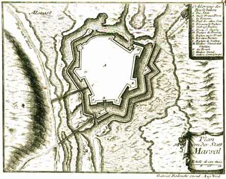 Photo du Monument Historique Fortifications situé à Marsal