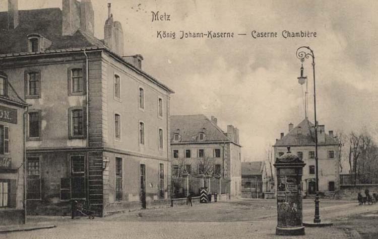 Photo du Monument Historique Caserne Chambière situé à Metz