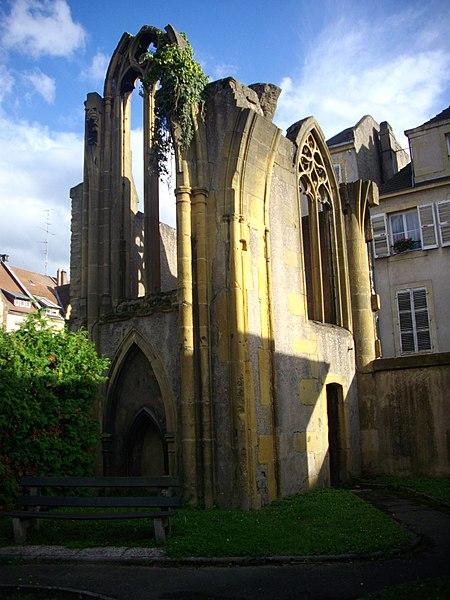 Photo du Monument Historique Eglise des Grands Carmes (ruines de l'ancienne) situé à Metz