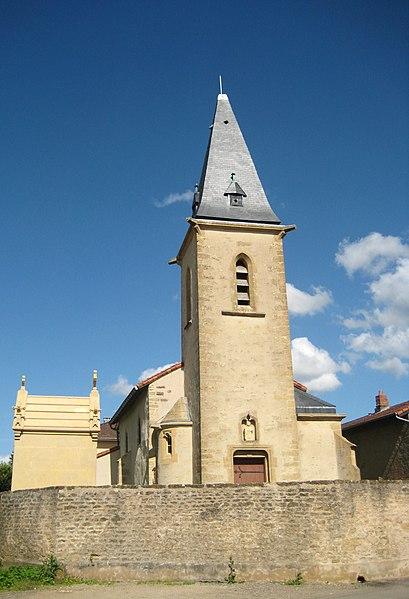 Photo du Monument Historique Eglise Saint-Georges situé à Roncourt