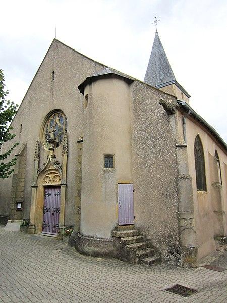 Photo du Monument Historique Eglise situé à Rozérieulles