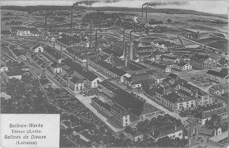 Photo du Monument Historique Bâtiments des Salines et de l'Usine de produits chimiques situé à Dieuze