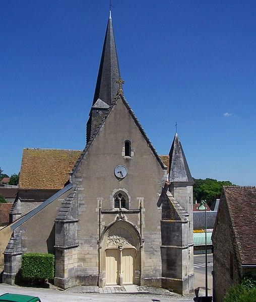 Photo du Monument Historique Eglise situé à Alligny-Cosne