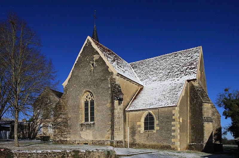 Photo du Monument Historique Eglise situé à Sainte-Colombe-des-Bois