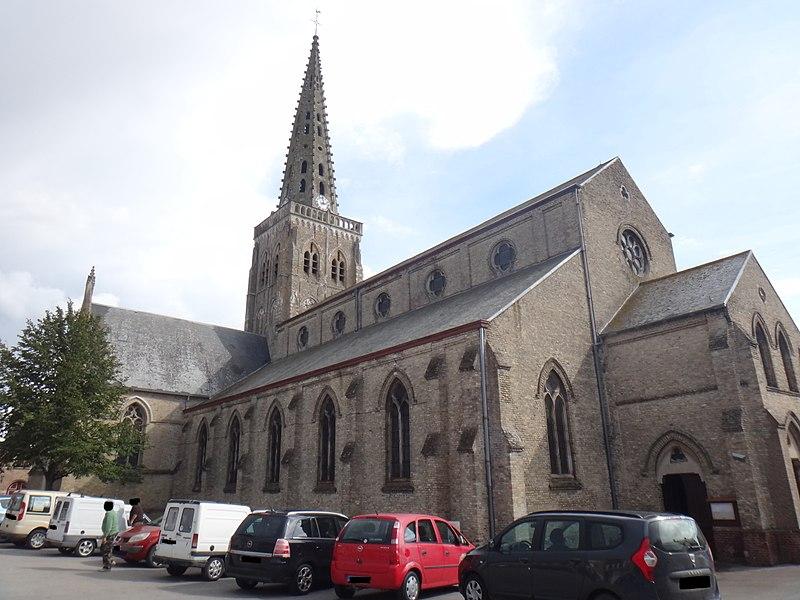 Photo du Monument Historique Eglise Saint-Wandrille situé à Bollezeele