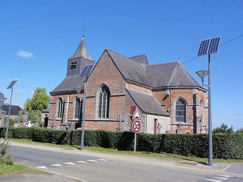 Photo du Monument Historique Eglise dédiée à la Conversion de Saint-Paul situé à Clairfayts