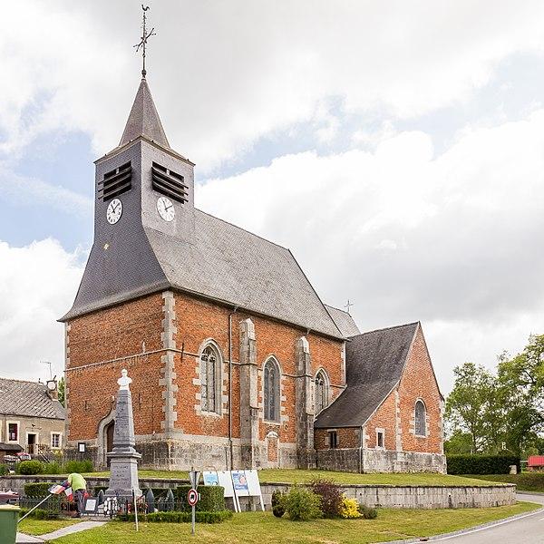 Photo du Monument Historique Eglise Saint-Ursmar situé à Eppe-Sauvage