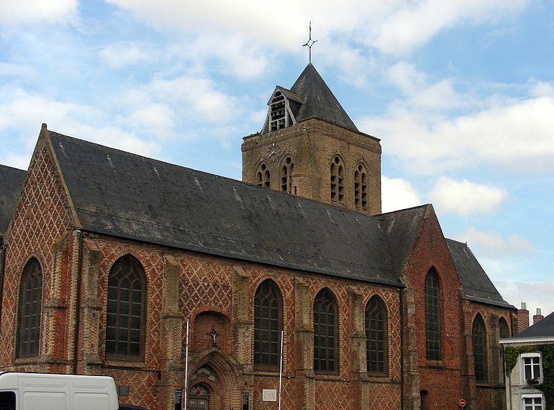 Photo du Monument Historique Eglise Saint-Folquin situé à Esquelbecq