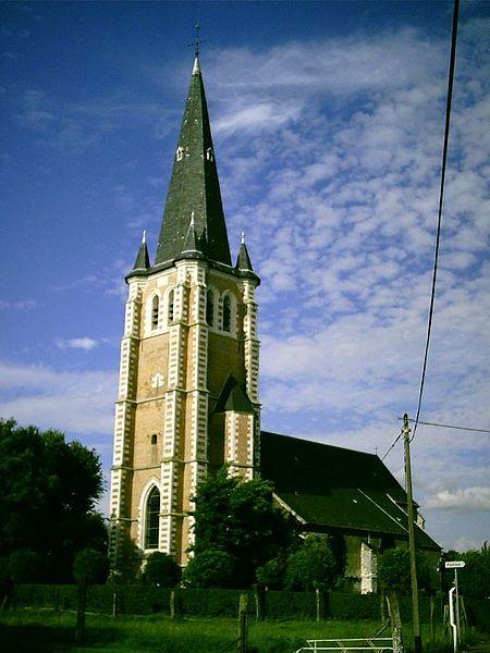 Photo du Monument Historique Eglise Saint-Vaast situé à Hallennes-lez-Haubourdin