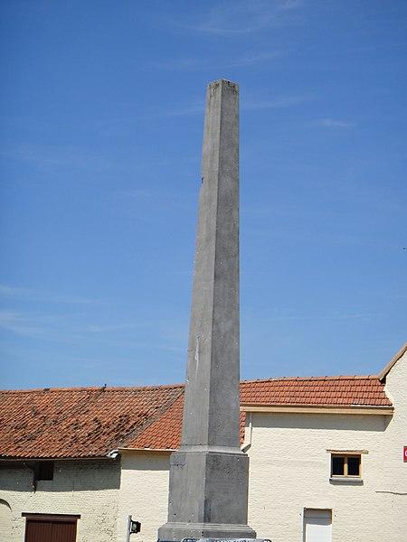Photo du Monument Historique Pyramide commémorative de la bataille de Denain situé à Haulchin