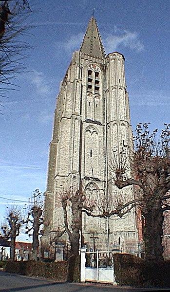 Photo du Monument Historique Eglise Saint-Antoine situé à Houtkerque