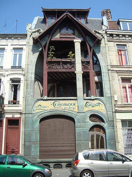 Photo du Monument Historique Maison Coilliot et son décor intérieur situé à Lille
