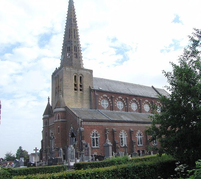 Photo du Monument Historique Eglise Saint-Denis situé à Noordpeene
