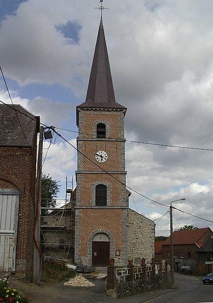 Photo du Monument Historique Eglise Saint-Martin situé à Obrechies
