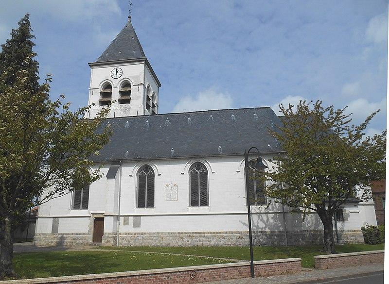 Photo du Monument Historique Eglise Saint-Nicolas situé à Péronne-en-Mélantois