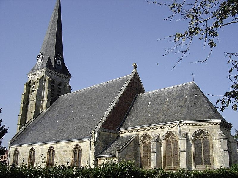 Photo du Monument Historique Eglise situé à Saint-Aubert