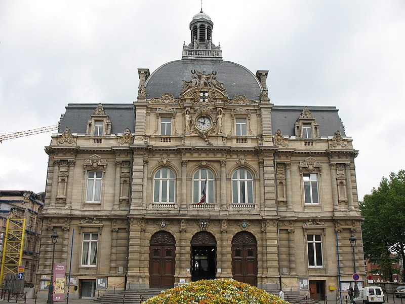 Photo du Monument Historique Hôtel de ville situé à Tourcoing