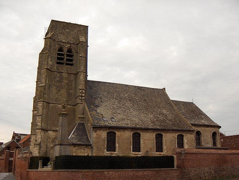 Photo du Monument Historique Eglise situé à Boussières-en-Cambrésis