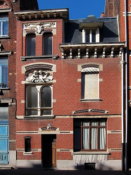 Photo du Monument Historique Maison du peintre Rémy Cogghe situé à Roubaix