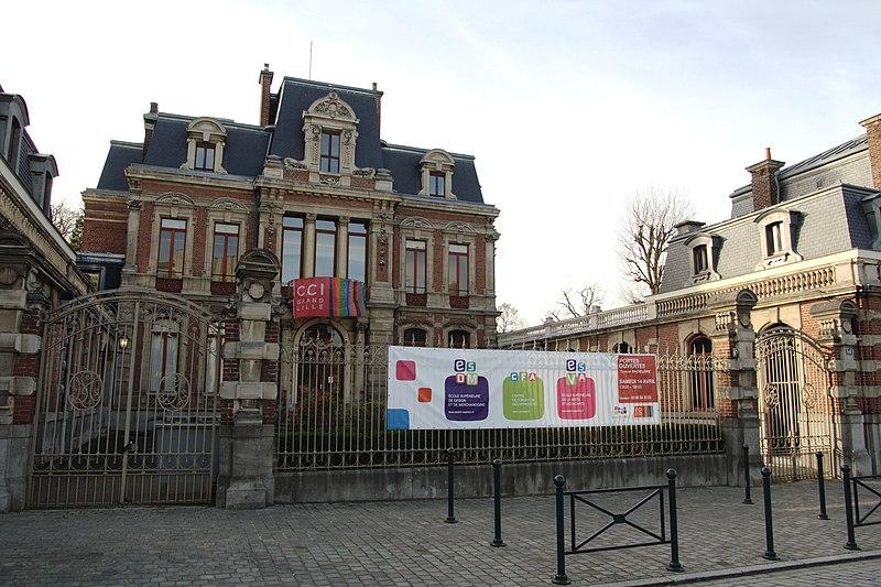 Photo du Monument Historique Hôtel Motte-Lagache situé à Roubaix