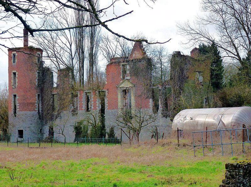 Photo du Monument Historique Ruines du château situé à Goeulzin