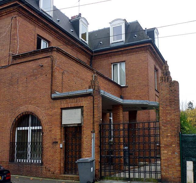 Photo du Monument Historique Hôtel particulier ou maison d'Haussy situé à Villeneuve-d'Ascq