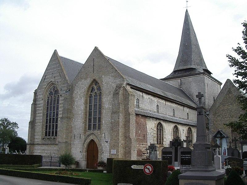 Photo du Monument Historique Eglise Saint-Folquin situé à Volckerinckhove
